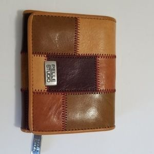 Pelle brown leather wallet